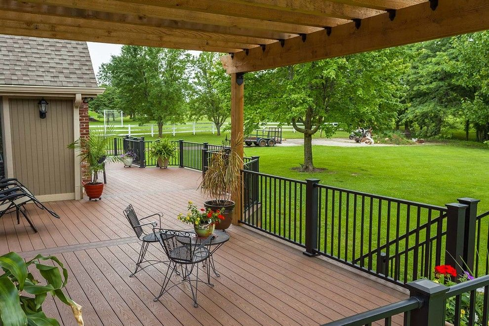 Inteplast for a Traditional Deck with a Iron Fence and Beautiful Decks by Creative Concepts & Design, Llc
