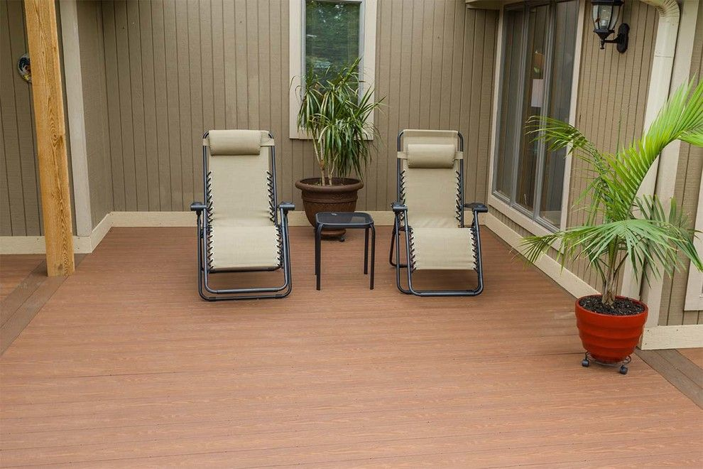 Inteplast for a Traditional Deck with a Vegetable Gargen and Beautiful Decks by Creative Concepts & Design, Llc