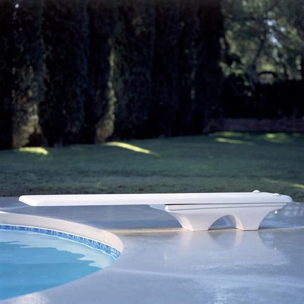 Interfab for a Contemporary Pool with a Pool Supply World and Inter Fab 6 Ft. Los Arcos Complete Diving Board   White by Poolsupplyworld