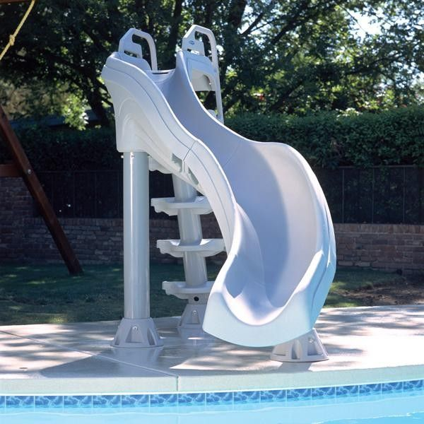 Interfab for a Modern Pool with a Poolsupplyworld Com and Inter Fab X Stream Pool Slide   Summit Gray by Poolsupplyworld
