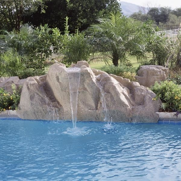 Interfab for a  Pool with a Rock and Inter Fab 4400 22 Aspen Pool Side Waterfall Only Light Granite by Poolsupplyworld