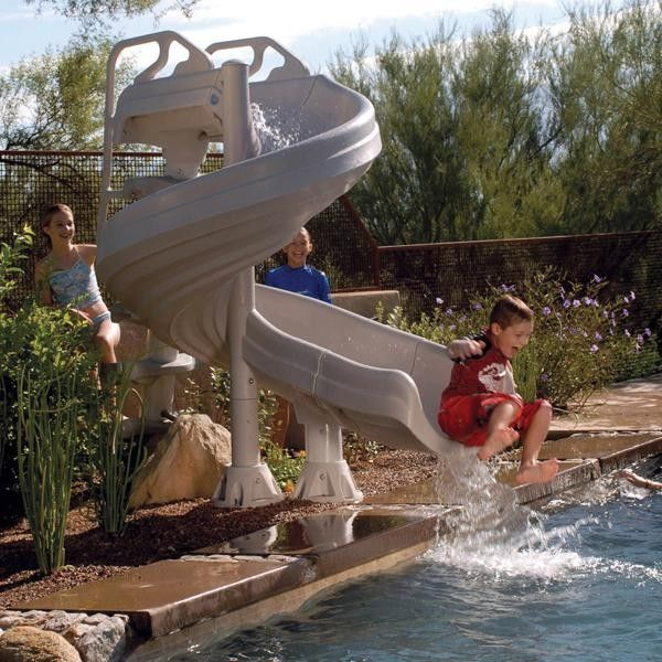 Interfab for a Tropical Pool with a Pool Fun and Inter Fab G Force Complete Pool Slide by Poolsupplyworld