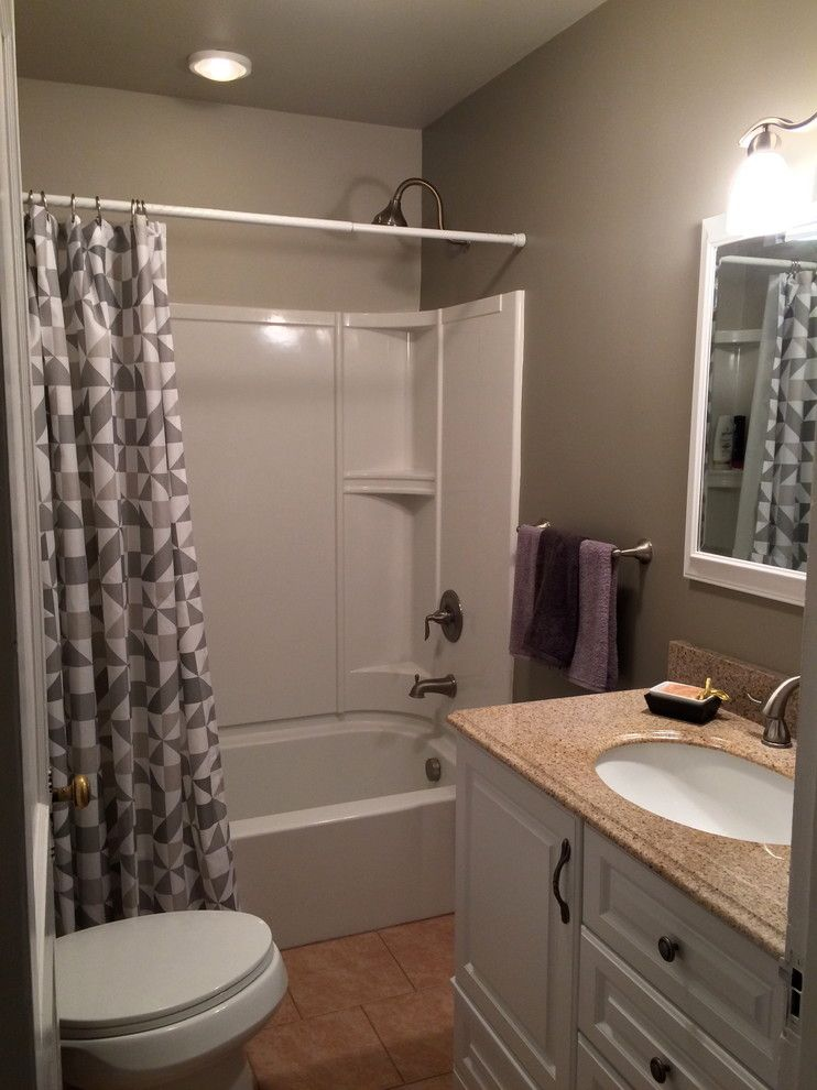 Intermountain Wood Products for a  Bathroom with a Hudson Valley Decorator and Chatham Staging by Bespoke Decor
