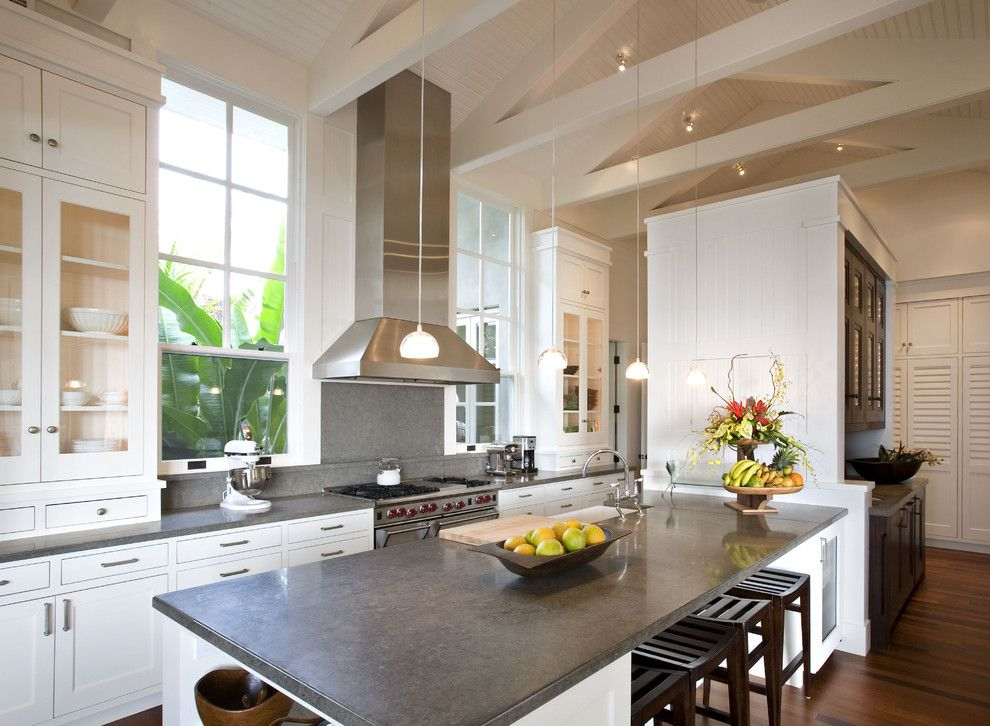 Intermountain Wood Products for a Contemporary Kitchen with a Open Floor Plan and Kauai Residence   Hawaii by Sutton Suzuki Architects