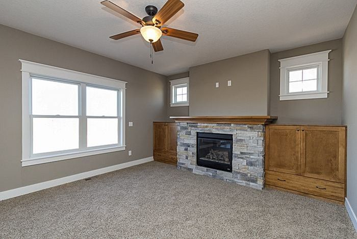 Iowa Realty Des Moines Ia for a Traditional Family Room with a Teal Creek Homes and Redrock Plan- Family Room by Teal Creek Homes