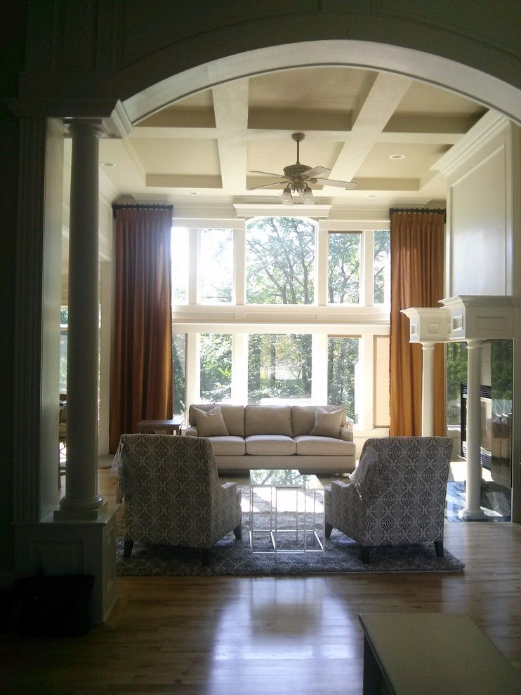 Iowa Realty Des Moines Ia for a Transitional Living Room with a Zachary and Neutral Transitional Living Room by K'lissa Garrett for Ethan Allen Des Moines Ia