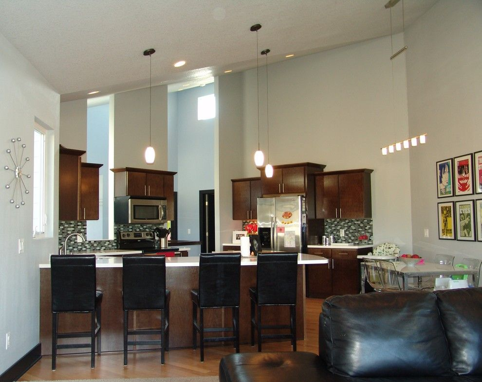 Iowa Realty Des Moines Iowa for a Contemporary Kitchen with a Windows and Wetzell Residence   Des Moines Area by Concepts in Design Inc.