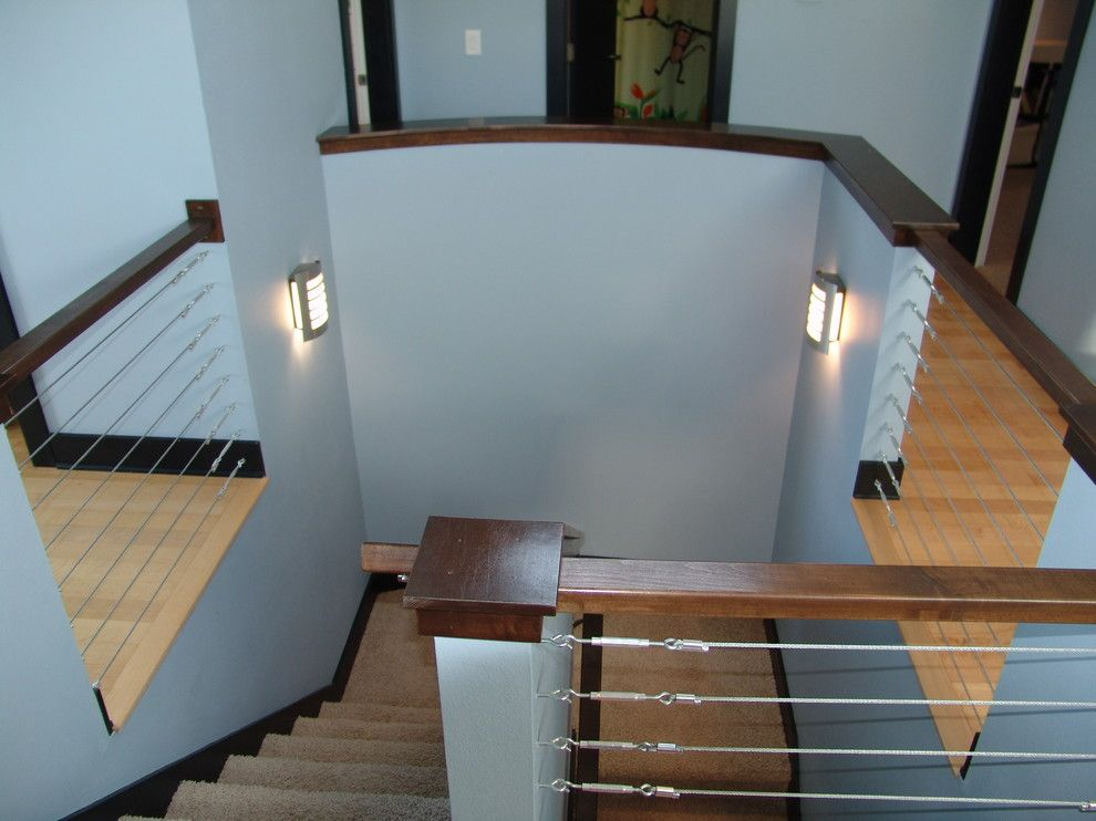 Iowa Realty Des Moines Iowa for a Contemporary Staircase with a Contemporary and Wetzell Residence   Des Moines Area by Concepts in Design Inc.