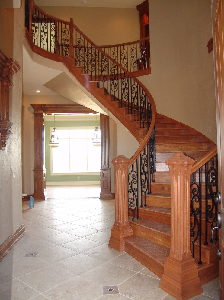 Iowa Realty Des Moines Iowa for a Traditional Staircase with a Design and Des Moines Residence by Concepts in Design Inc.