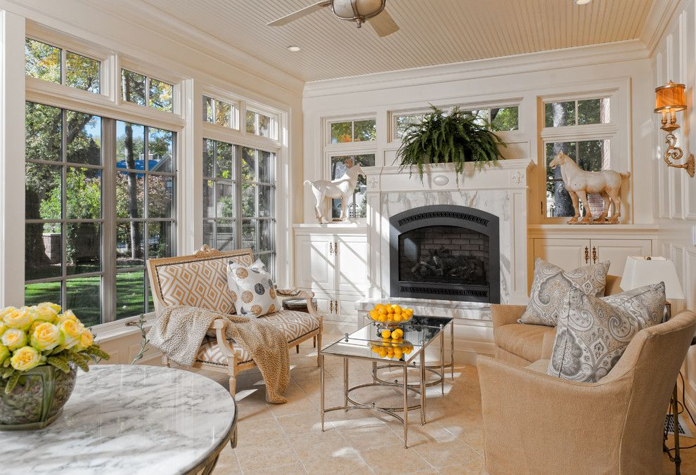 Ironwood Country Club for a Traditional Porch with a Tile Floor and Edina Country Club Renovation by Ma Peterson