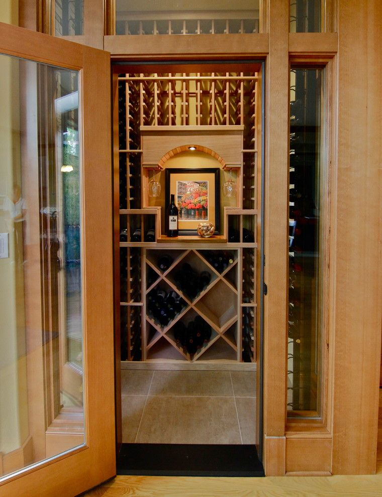 Issaquah Glass for a Contemporary Wine Cellar with a 423 Bottles and Issaquah, Wa, Wine Cellar, Dsb by Inviniti Cellar Design