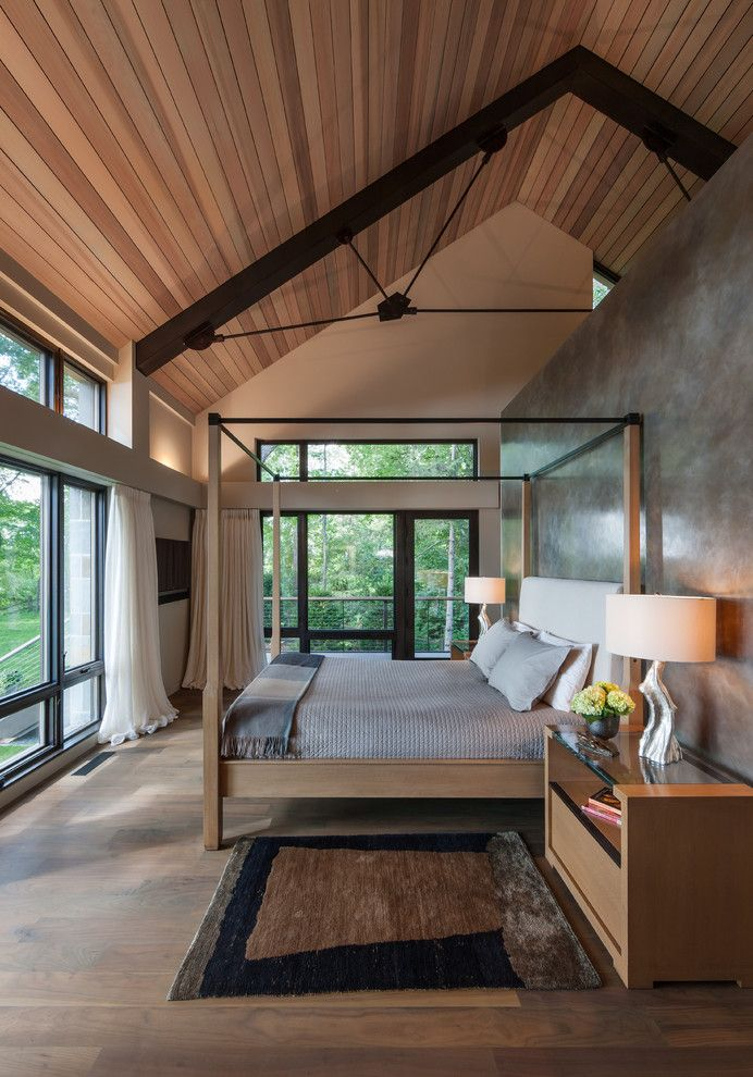 Ivy Hotel Minneapolis for a Modern Bedroom with a Modern Windows and House on a Quiet Bay by Sarah Nettleton Architects