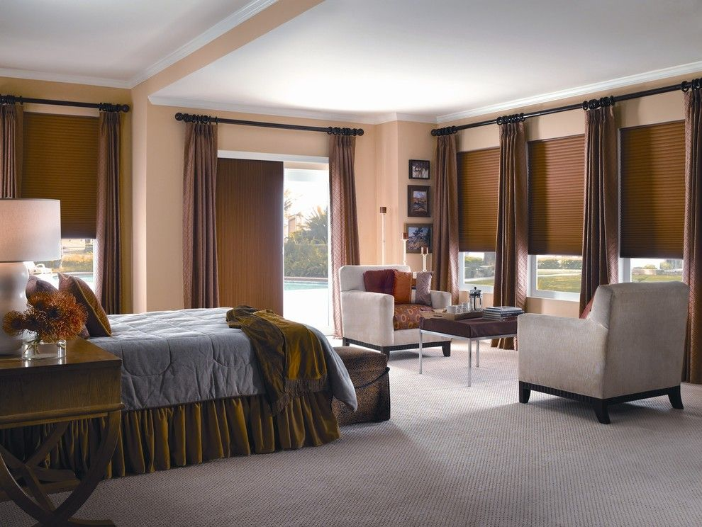Ivy Hotel Minneapolis for a Traditional Dining Room with a Roman Shades and Cellular Shades Paired with Drapery Panels by Budget Blinds