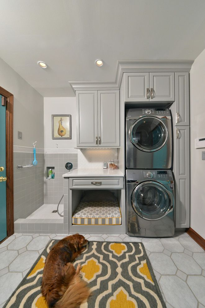 J Geils Band Love Stinks for a Traditional Laundry Room with a Dog Wash and Dogs Dream by Artistic Renovations of Ohio Llc
