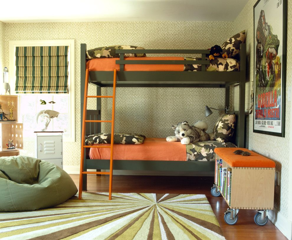 Jackson and Coker for a Eclectic Kids with a Accent Color and Modern Suburban Home by Diane Paparo Associates
