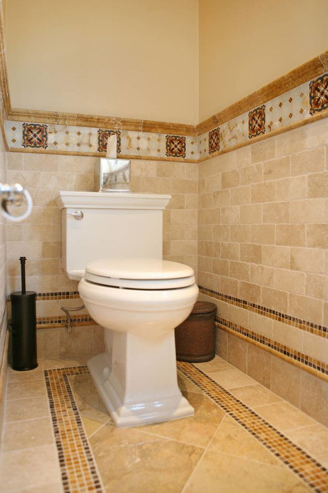 Jackson and Coker for a Mediterranean Bathroom with a Hand Painted Tiles and Spanish Revival Master Bath by Jackson Design & Remodeling