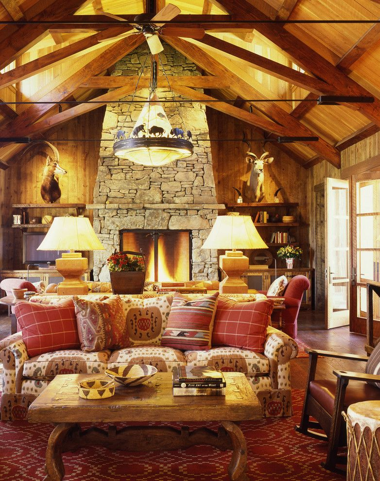 Jackson and Coker for a Rustic Living Room with a Weekend and Family Ranch by Tucker & Marks