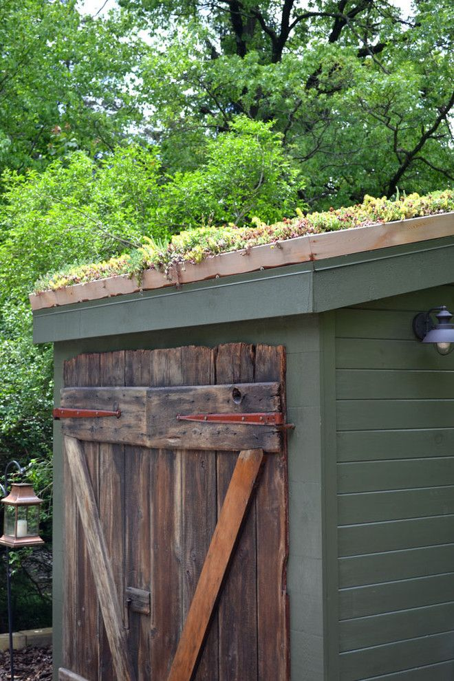 Jackson and Coker for a Rustic Shed with a Storage and Wyncote Home   Exterior by Colleen Brett