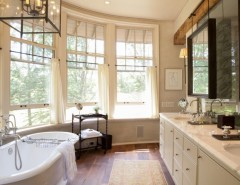 Jackson and Coker for a Traditional Bathroom with a Marble Counter and Equestrian Lifestyle by Kate Jackson Design