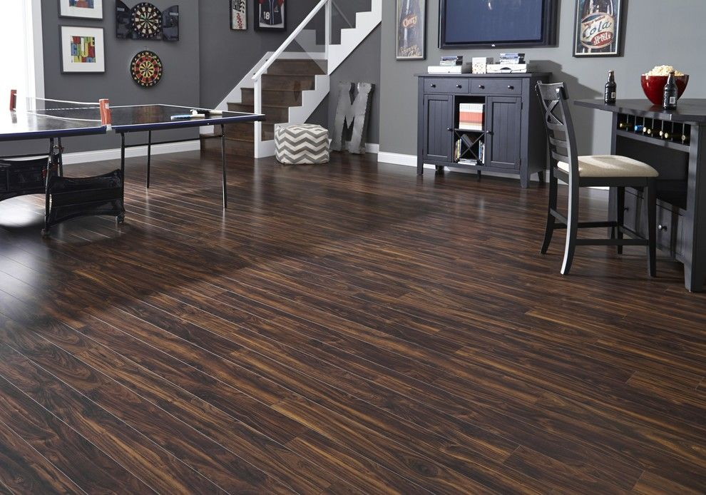 Jackson Hole Golf and Tennis for a Contemporary Living Room with a Dark Wood Floor and Lumber Liquidators by Lumber Liquidators