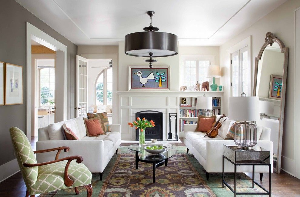 Jadon for a Contemporary Living Room with a Molding and Renovation by Tim Cuppett Architects