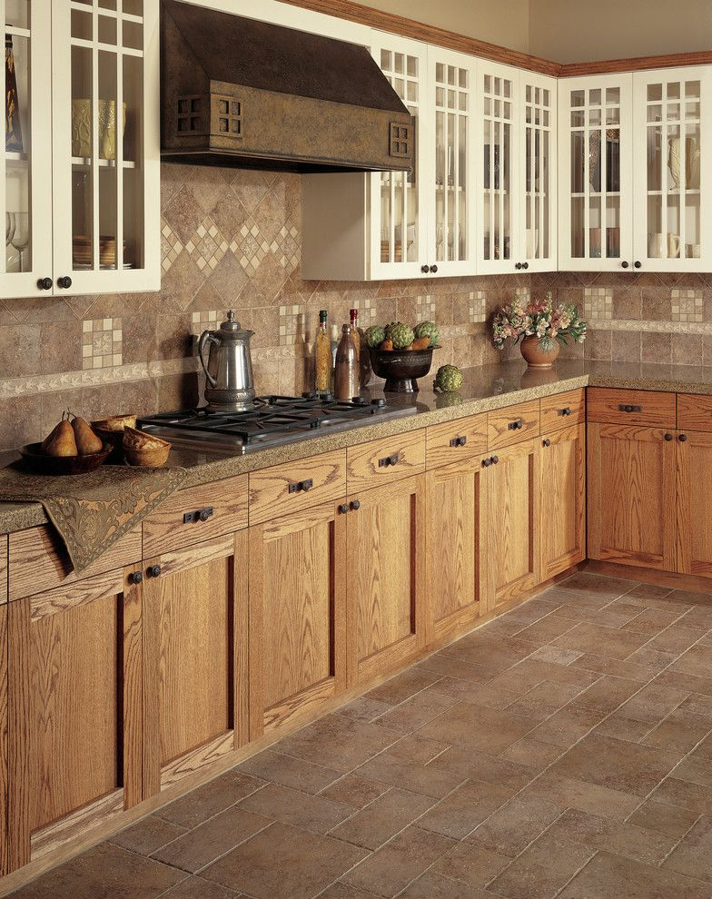 Jadon for a Traditional Kitchen with a Light Wood Cabinets and Kitchen by Carpet One Floor & Home