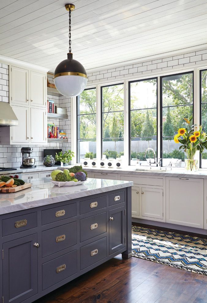 Jadon for a Transitional Kitchen with a Tongue and Groove Ceiling and Nashville Residence by Marvin Windows and Doors