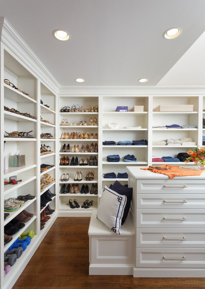 Janets Closet for a  Closet with a Open Shelving and Rumson, NJ by Master Design Cabinetry