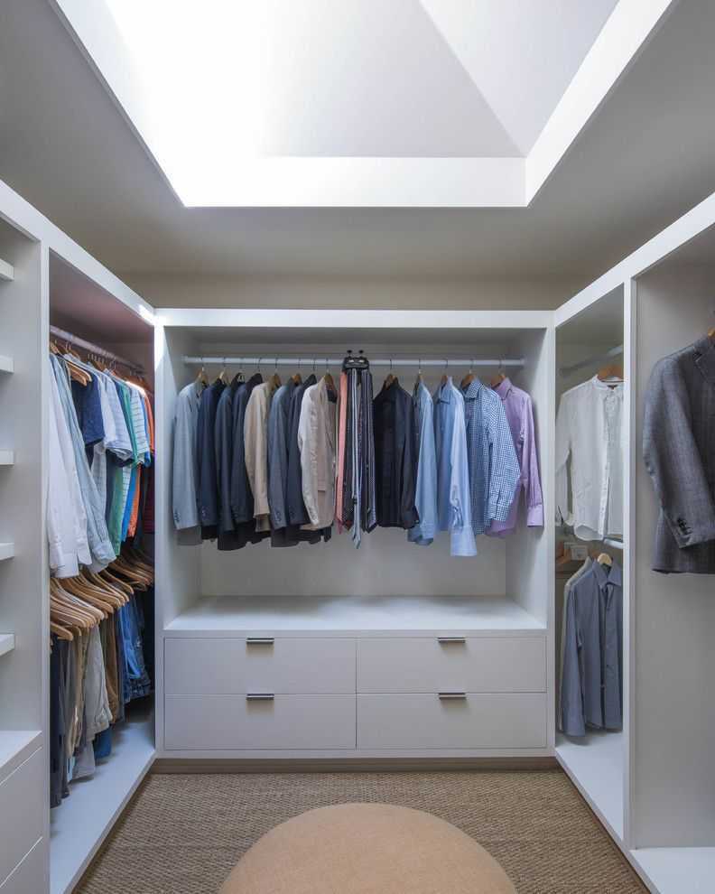 Janets Closet for a Contemporary Closet with a Natural Lighting and Eason by Avenue B Development