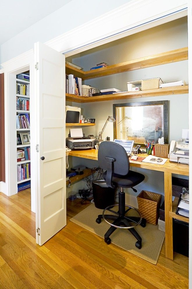 Janets Closet for a Traditional Home Office with a Built in and Cole Street by Rossington Architecture