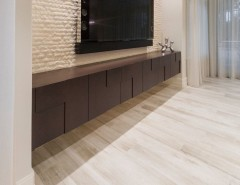 Jatoba for a Modern Living Room with a Jatoba Porcelain and Ft. Lauderdale Residence by Opustone