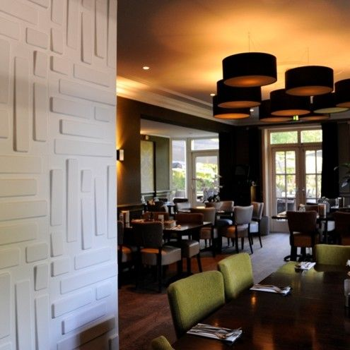 Jemco for a Modern Dining Room with a Dimensional Wall Paper and Myrestaurant Walldecorpanels by Mywallart 3d Wall Panels