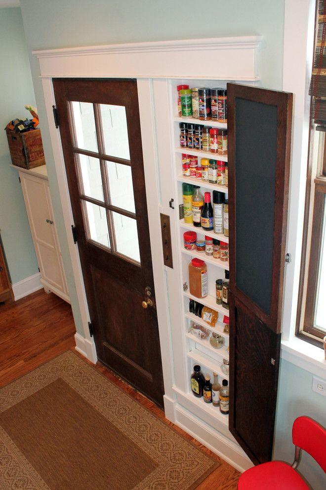Jennifer Convertible for a Farmhouse Kitchen with a Spicerack and 2014 Kitchen Trim Makeover by Oliver Construction Llc