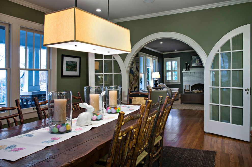 Jewish Candle Holder for a Traditional Dining Room with a Green and North Chattanooga Renovation by Collier Construction