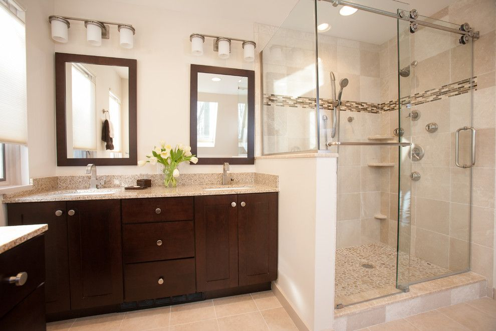 Jmc Homes for a Contemporary Bathroom with a Shaker Style and Beautiful Kitchen & Contemporary Bathroom in Summit by Jmc Home Remodeling