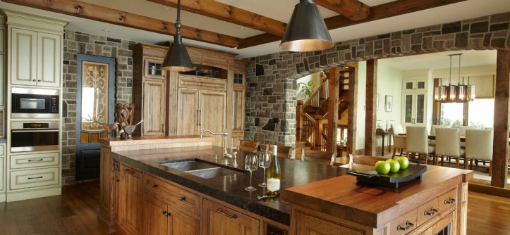 Johns Appliance for a Rustic Kitchen with a Kitchen Island and the Cottage by Parkyn Design