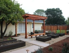 Jolee for a Asian Landscape with a Colored Concrete and Veggie Beds by Lifescape Custom Landscaping, Inc.