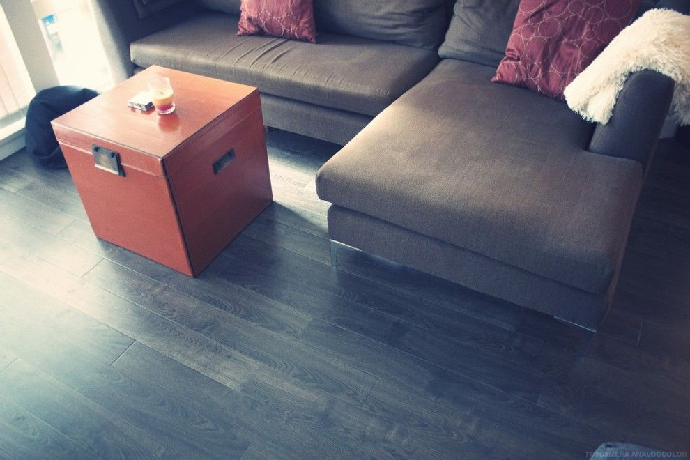 Jolee for a Modern Spaces with a Apartment and the Fraser Street Condo Project by Frontier Flooring
