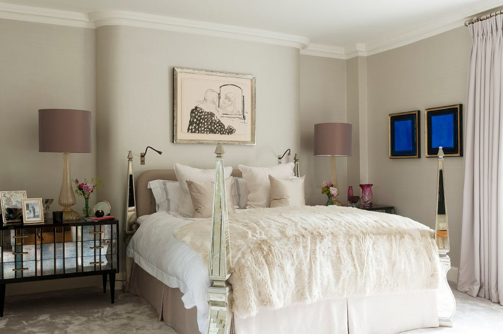 Jones Paint and Glass Provo for a Traditional Bedroom with a Bedroom and Regent's Park House by Louise Jones