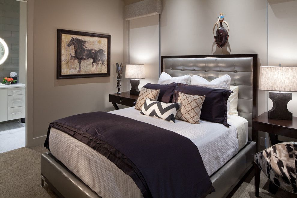 Juhl Las Vegas for a Contemporary Bedroom with a Bed Pillows and Desert Contemporary by Interiors by Cary Vogel