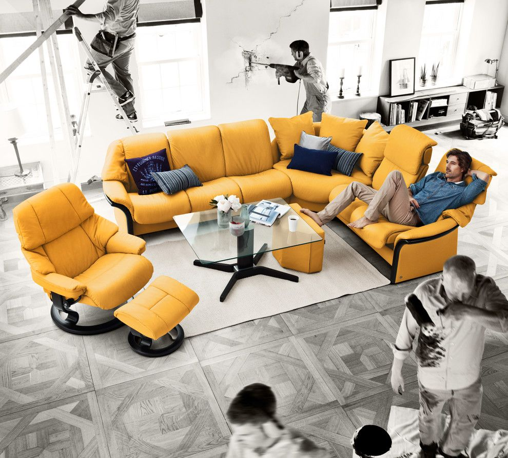 Juhl Las Vegas for a Contemporary Living Room with a Couch and Stressless by Ekornes   Chairs, Recliners & Sofas Imported From Norway by Ergo Beds