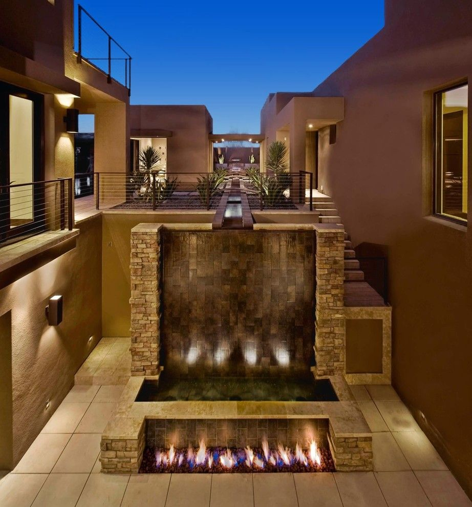Juhl Las Vegas for a Contemporary Patio with a Dramatic and Marquis Las Vegas (2009 New American Home) by Paul Alvarez