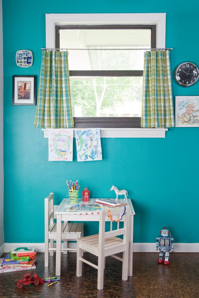 Juju Designs for a Midcentury Kids with a Child Decor and Mid Century Modern Home by Gina Sims Designs