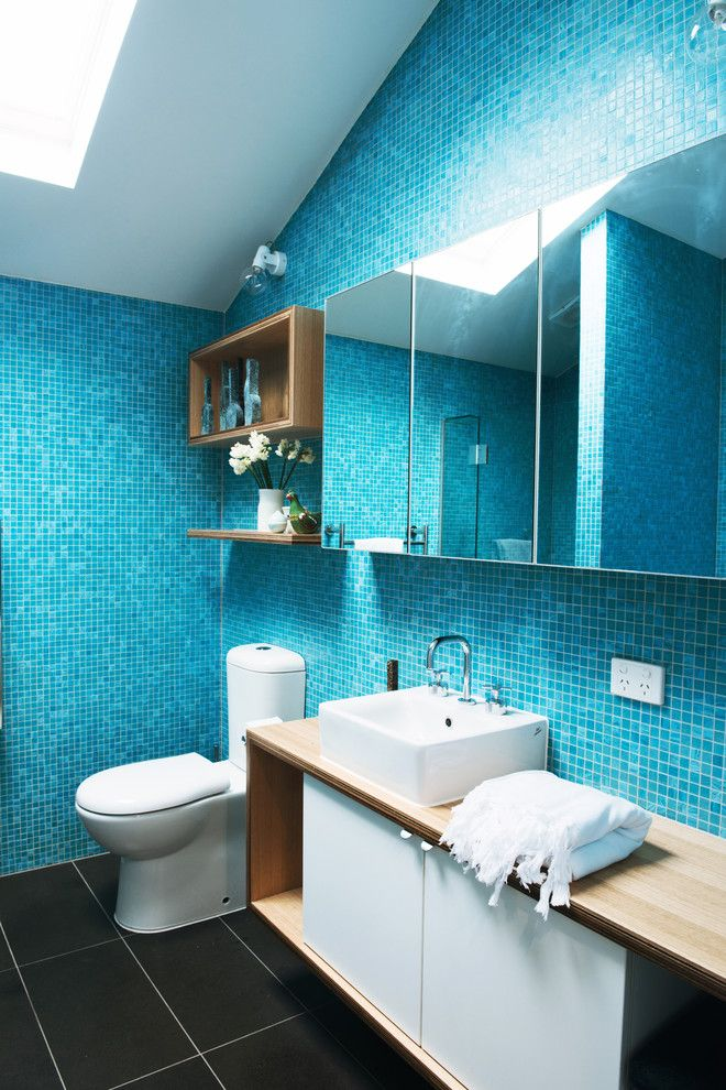 Julia Morgan Architect for a Contemporary Bathroom with a Small Block and Cottage Place by Nest Architects