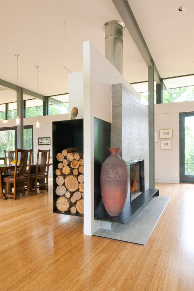 Julia Morgan Architect for a Contemporary Living Room with a Pottery and Ridge House by Mcinturff Architects