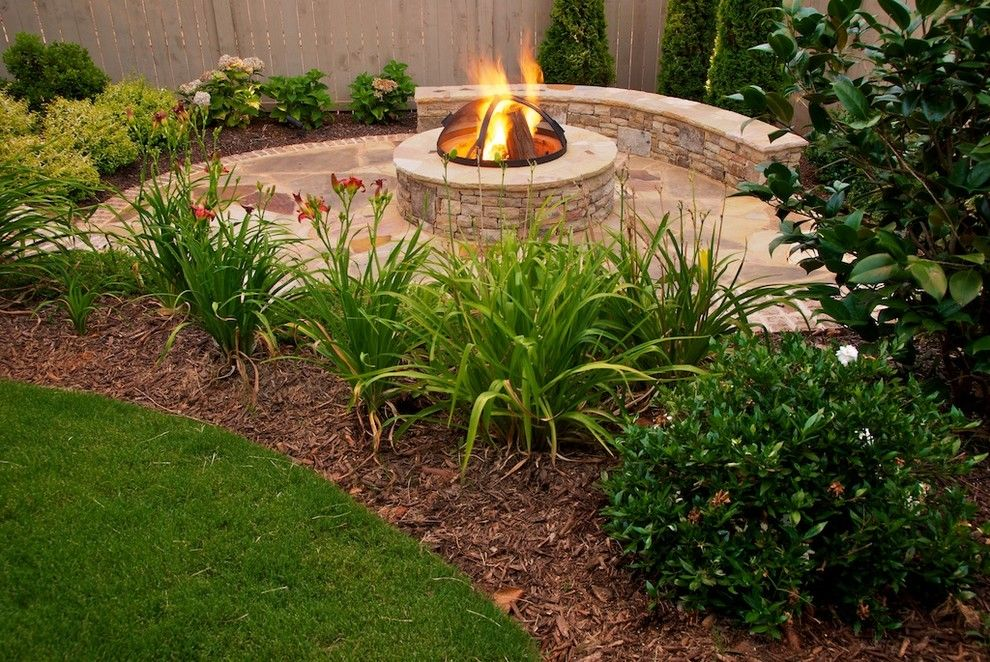 Kaleidoscope Atlanta for a Contemporary Landscape with a Seasonal Color and Atlanta Fire Pit by the Inspired Garden