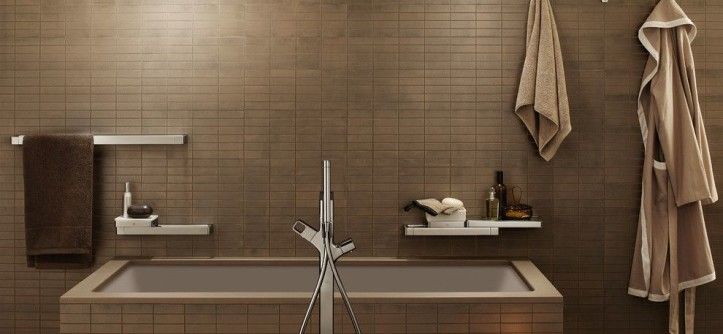 Kaleidoscope Atlanta for a Modern Bathroom with a Floating Shelves and Hansgrohe by Hansgrohe USA