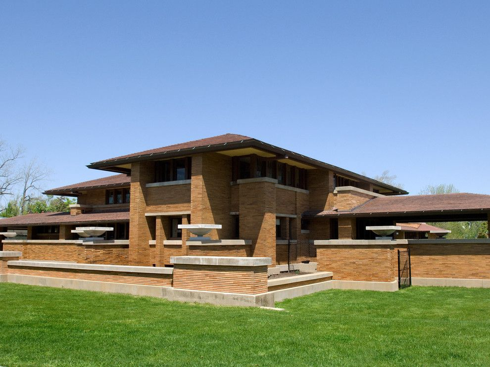 Kamco Building Supply for a Craftsman Exterior with a Overhanging Eaves and Frank Lloyd Wright's   the Darwin Martin Complex by Northern Roof Tiles
