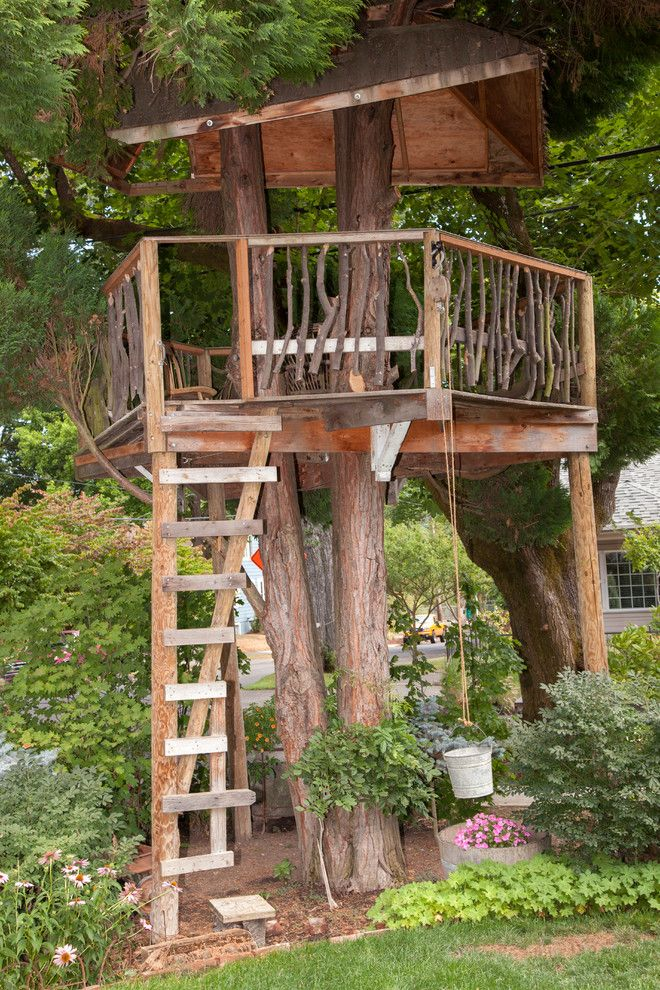 Kamco Building Supply for a Eclectic Landscape with a Tree House and Rex House by Whitney Lyons
