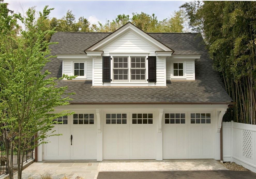 Kamco Building Supply for a Traditional Garage with a Pavers and 3 Car Garage by Lasley Brahaney Architecture + Construction